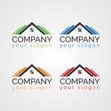 Propiedades inmobiliarias Logo Template de la propiedad Fotos de archivo