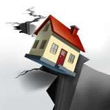 Propiedades inmobiliarias que caen Foto de archivo libre de regalías