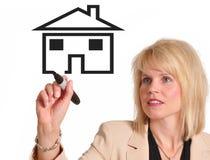 Propiedades inmobiliarias que hacen publicidad Imágenes de archivo libres de regalías