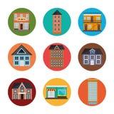 Propiedades inmobiliarias urbanas Imagen de archivo