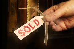 Propiedades inmobiliarias - VENDIDAS Imagen de archivo libre de regalías