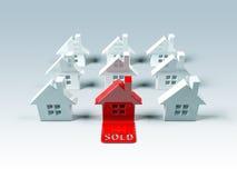 Propiedades inmobiliarias: vendido Fotografía de archivo libre de regalías