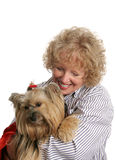 Propietario cariñoso del animal doméstico Fotografía de archivo libre de regalías