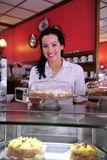 Propietario de un café del almacén de la torta Imagen de archivo