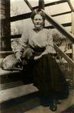Propietario del animal doméstico de la vendimia Imagen de archivo
