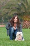 Propietario del perro Foto de archivo libre de regalías