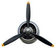 Самолет Propleller, полет, авиация, изолированный двигатель, Стоковая Фотография