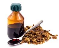 Propolis médicale d'abeille de préparations Apitherapy D'isolement sur le fond blanc Image stock