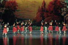 Proponga una tostada - el primer lago swan del banquete-ballet de la pantalla Foto de archivo