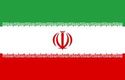 Proporção correta Ilustração do vetor A bandeira de Irã está voando no vento Bandeira colorida, nacional do iraniano patriotism ilustração royalty free