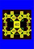 Proporcional al cuadrado Imagen de archivo libre de regalías