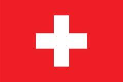 Proportions standard pour le drapeau de la Suisse Photo stock