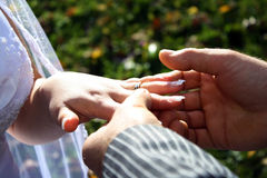 Proposal. At a wedding ceremony Stock Photography
