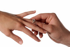 Proposal. Marriage proposal asking will you marry me Royalty Free Stock Photography
