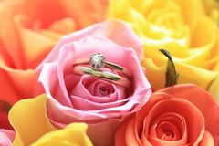 the proposal bouquet Stock Photography