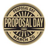 Proposal Day stamp. Proposal Day, March 20, rubber stamp, vector Illustration Stock Photography