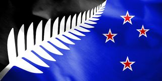 Proposal Flag of New Zealand. Stock Photo