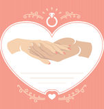 Proposal hand 2 Royalty Free Stock Photography