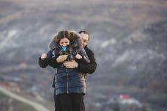 Proposal in Hugs Stock Photo