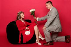 Proposal of marriage 1 Royalty Free Stock Photo