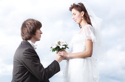 Proposal of marriage Royalty Free Stock Photography