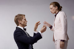 Proposal of marriage c Royalty Free Stock Photo
