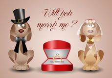 Proposal of marriage vector illustration