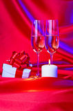 Proposal of marriage still life Stock Image