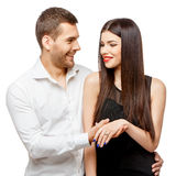 Proposal of marriage Royalty Free Stock Photo