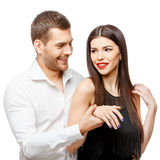 Proposal of marriage Royalty Free Stock Images