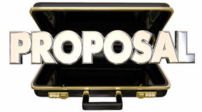 Proposal Presentation Briefcase Sales Pitch Stock Photography