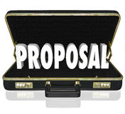 Proposal Sales Presentation Open Briefcase Royalty Free Stock Photo