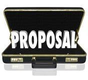 Proposal Sales Presentation Open Briefcase Royalty Free Stock Photo
