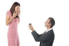 Proposal scene Royalty Free Stock Photos