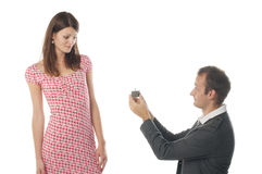 Proposal scene Stock Photo