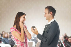 Proposal scene Royalty Free Stock Photo