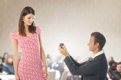 Proposal scene Royalty Free Stock Image