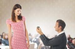 Proposal scene Royalty Free Stock Image