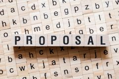 Proposal word concept royalty free stock images