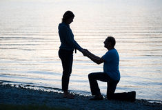 Proposal your girlfriend Royalty Free Stock Photo