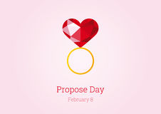 Propose Day vector Stock Images