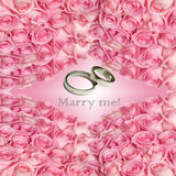 Propose marriage card Royalty Free Stock Image