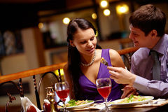 Propose meal Stock Image