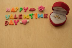 Propose ring on valentine day Royalty Free Stock Image