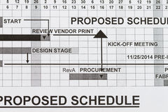 Proposed schedule Stock Photos