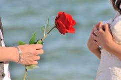 Proposez pour l'amour et la surprise Images libres de droits