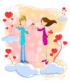 Proposing Love couple Royalty Free Stock Images