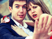 Proposing marriage Royalty Free Stock Image