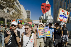 Proposition 8 Protest Rally & March In Los Angeles Stock Images
