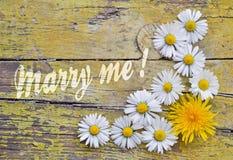 Proposition avec des fleurs Photo libre de droits